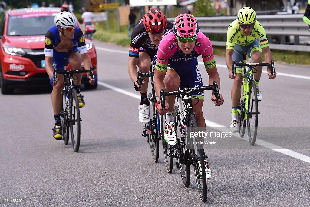 99th Tour of Italy 2016 / Stage 18 Sacha MODOLO (ITA)/ Ivan ROVNY (RUS)/ Nikias ARNDT (GER)/ Matteo TRENTIN (ITA)/ Muggio - Pinerolo (240km)/ / Giro /