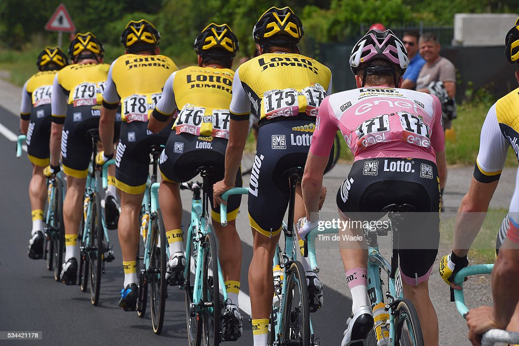 99th Tour of Italy 2016 / Stage 18 Steven KRUIJSWIJK (NED) Pink Leader Jersey / Team LOTTO SOUDAL (BEL)/ Muggio - Pinerolo (240km)/ / Giro /