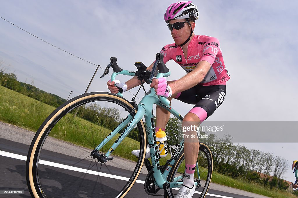 99th Tour of Italy 2016 / Stage 18 Steven KRUIJSWIJK (NED) Pink Leader Jersey / Muggio - Pinerolo (240km)/ / Giro /