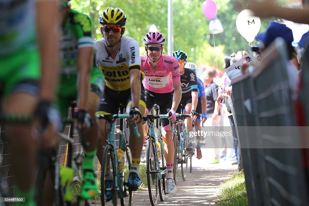 99th Tour of Italy 2016 / Stage 18 Steven KRUIJSWIJK (NED) Pink Leader Jersey / Muggio - Pinerolo (240km)/ Giro /