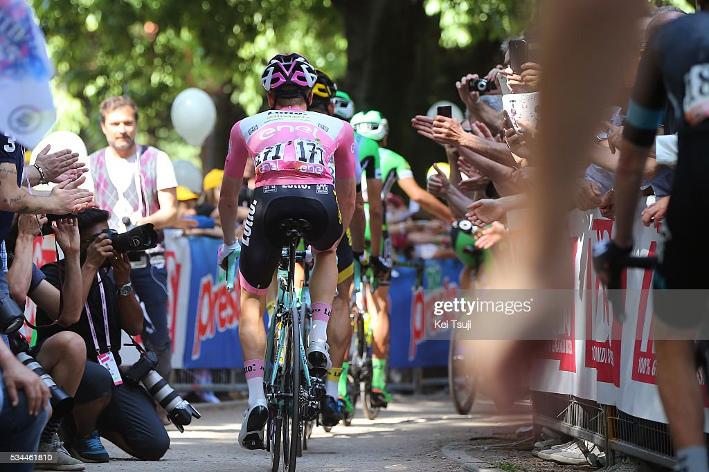 99th Tour of Italy 2016 / Stage 18 Steven KRUIJSWIJK (NED) Pink Leader Jersey / Illustration / Muggio - Pinerolo (240km)/ Giro /