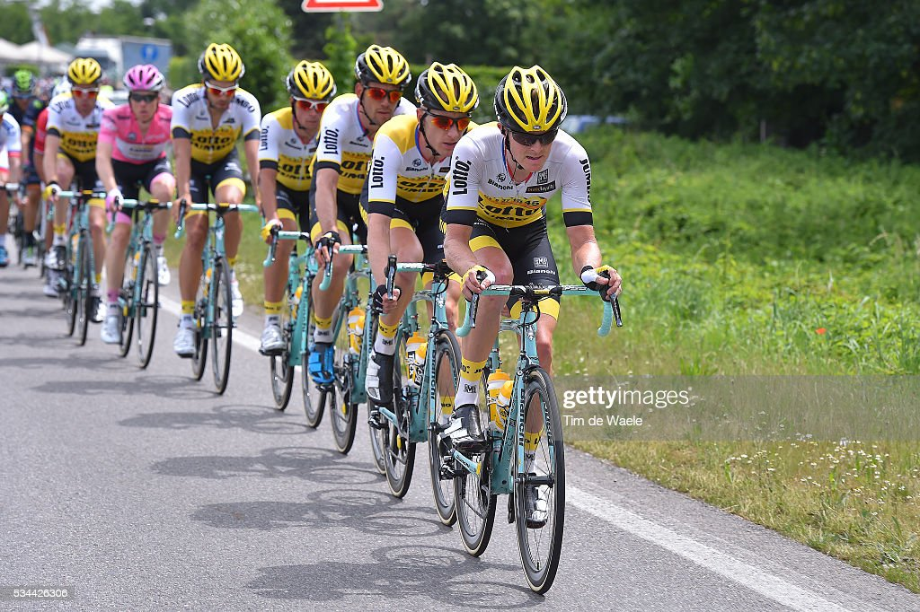 99th Tour of Italy 2016 / Stage 18 Twan CASTELIJNS (NED)/ Steven KRUIJSWIJK (NED) Pink Leader Jersey / Team LOTTO SOUDAL (BEL)/ Muggio - Pinerolo (240km)/ / Giro /