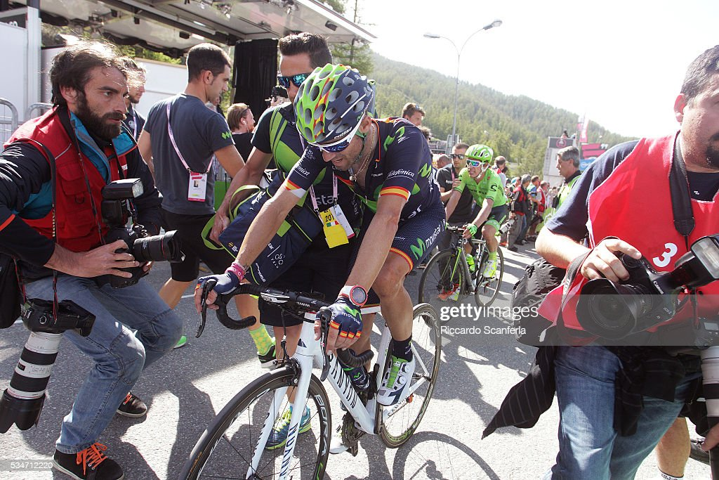 99th Tour of Italy 2016 / Stage 19 Arrival / Alejandro VALVERDE (ESP)/ Pinerolo - Risoul 1862m (162km)/ Giro /