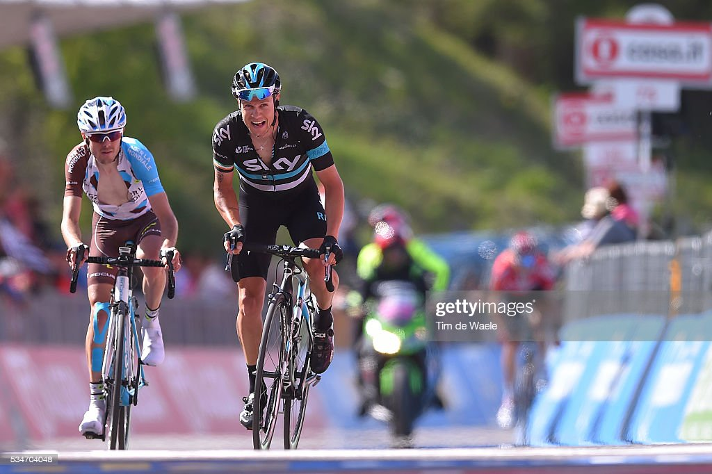 99th Tour of Italy 2016 / Stage 19 Arrival / Hubert DUPONT (FRA)/ Nicolas ROCHE (IRL)/ Pinerolo - Risoul 1862m (162km)/ Giro /
