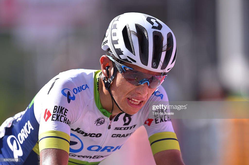 99th Tour of Italy 2016 / Stage 19 Arrival / Johan Esteban CHAVES RUBIO (COL)/ Pinerolo - Risoul 1862m (162km)/ Giro /