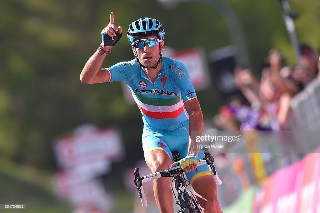 99th Tour of Italy 2016 / Stage 19 Arrival / Vincenzo NIBALI (ITA)/ Celebration / Pinerolo - Risoul 1862m (162km)/ Giro /