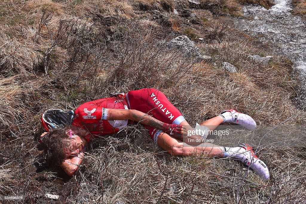 99th Tour of Italy 2016 / Stage 19 Illustration / Ilnur ZAKARIN (RUS) / Crash / Pinerolo - Risoul 1862m (162km)/ Giro /