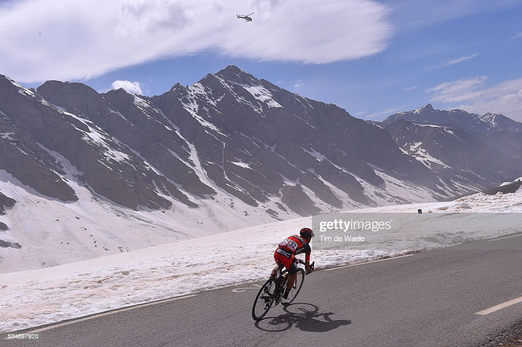 99th Tour of Italy 2016 / Stage 19 Illustration / Landscape / Mountains / Snow / Darwin ATAPUMA HURTADO (COL)/ Colle Dell'Agnello 2744m / Pinerolo - Risoul 1862m (162km)/ Giro /