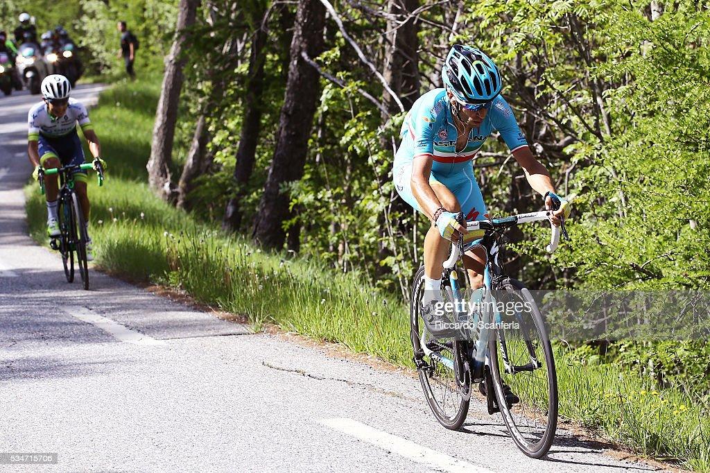 99th Tour of Italy 2016 / Stage 19 Vincenzo NIBALI (ITA)/ Johan Esteban CHAVES RUBIO (COL)/ Pinerolo - Risoul 1862m (162km)/ Giro /