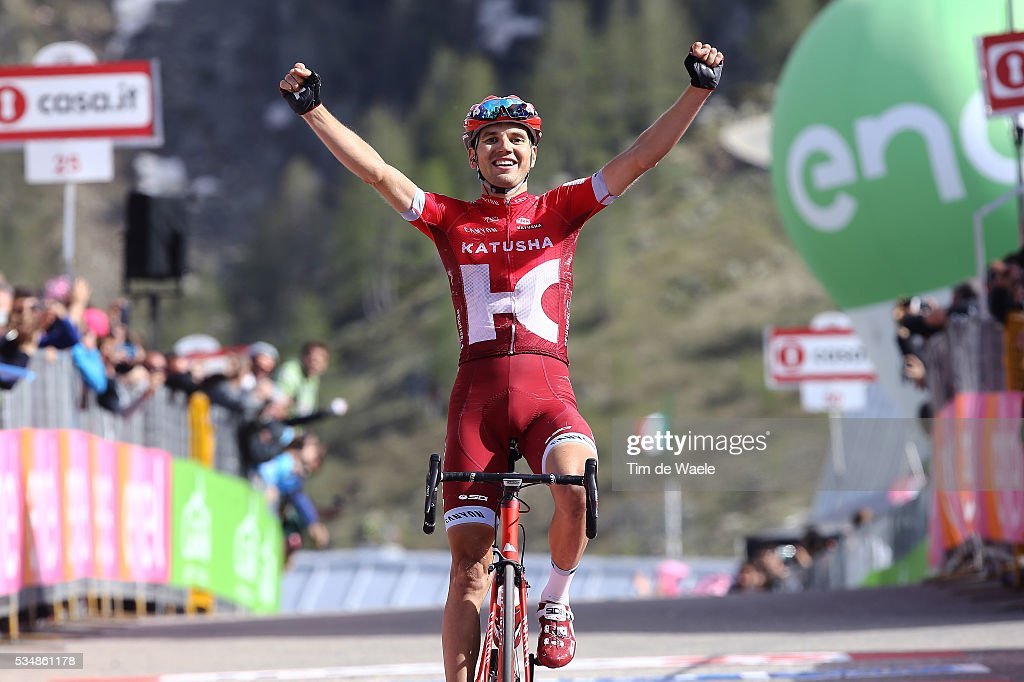 99th Tour of Italy 2016 / Stage 20 Arrival / Rein TAARAMAE (EST)/ Celebration / Guillestre - Sant'Anna Di Vinadio 2015m (134km)/ Giro /