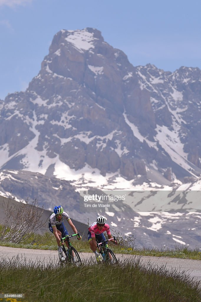 99th Tour of Italy 2016 / Stage 20 Johan Esteban CHAVES RUBIO (COL) Pink Leader Jersey / Col De Vars 2108 M / Mountains / Guillestre - Sant'Anna Di Vinadio 2015m (134km)/ Giro /