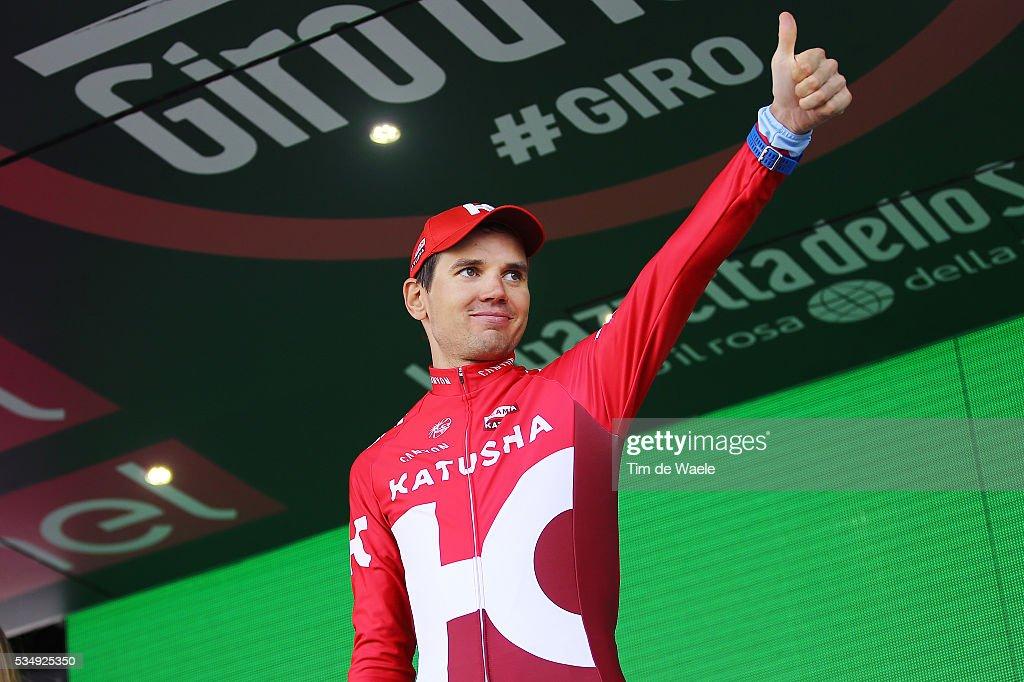 99th Tour of Italy 2016 / Stage 20 Podium / Rein TAARAMAE (EST)/ Celebration / Guillestre - Sant'Anna Di Vinadio 2015m (134km)/ Giro /