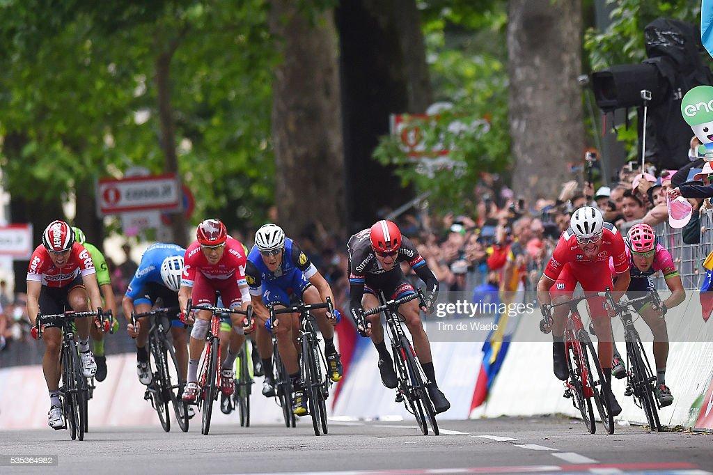 99th Tour of Italy 2016 / Stage 21 Arrival Sprint / Giacomo NIZZOLO (ITA) Red Sprint Jersey / Matteo TRENTIN (ITA)/ Nikias ARNDT (GER)/ Alexander PORSEV (RUS)/ Sean DE BIE (BEL)/ Cuneo - Torino (163Km)/ Giro /