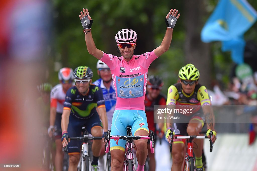 99th Tour of Italy 2016 / Stage 21 Arrival / Vincenzo NIBALI (ITA) Pink leader Jersey / Celebration / Cuneo - Torino (163Km)/ Giro /
