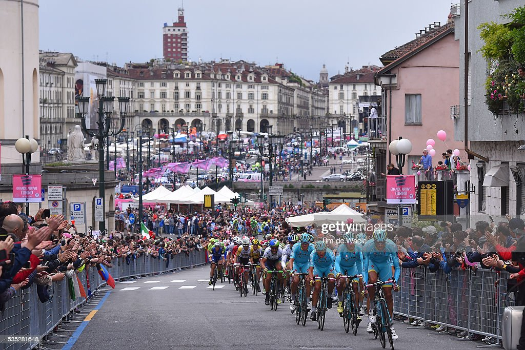 99th Tour of Italy 2016 / Stage 21 Illustration / Landscape / Peloton / Torino City / Public / Fans / Team ASTANA PRO TEAM (KAZ)/ Cuneo - Torino (163km)/ Giro /