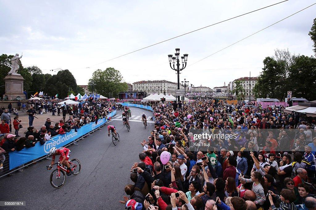 99th Tour of Italy 2016 / Stage 21 Illustration / Peloton / TORINO City / Landscape / Public / Giacomo NIZZOLO (ITA) Red Sprint Jersey / Cuneo - Torino (163Km)/ Giro /
