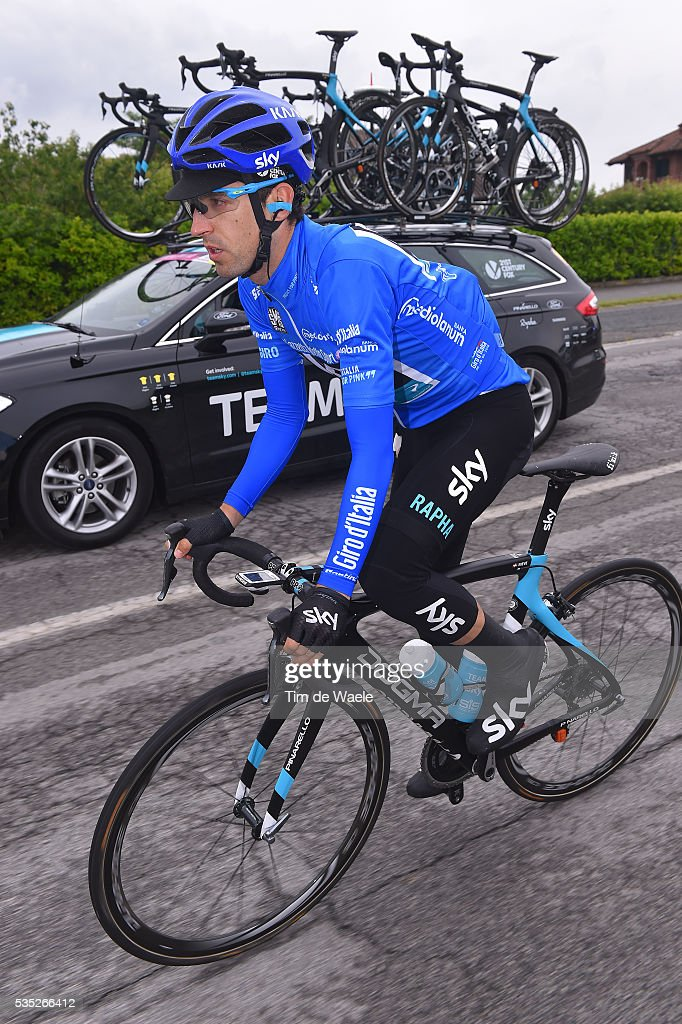 99th Tour of Italy 2016 / Stage 21 Mikel NIEVE ITURRALDE (ESP) Blue Mountain Jersey/ Team SKY (GBR)/ Car / Cuneo - Torino (163km)/ Giro /