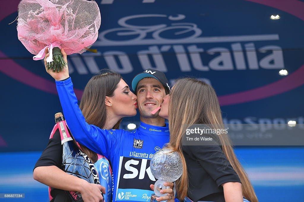 99th Tour of Italy 2016 / Stage 21 Podium / Mikel NIEVE ITURRALDE (ESP) Blue Mountain Jersey/ Celebration / champagne / Cuneo - Torino (163km)/ Giro /