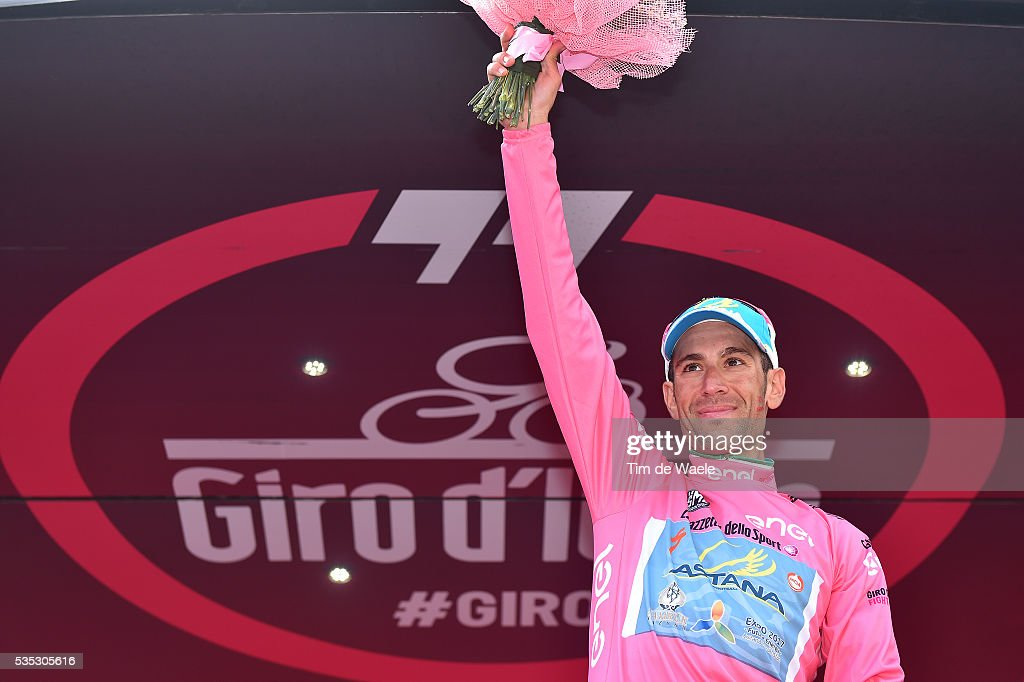 99th Tour of Italy 2016 / Stage 21 Podium / Vincenzo NIBALI (ITA) Pink Leader Jersey / Celebration / Cuneo - Torino (163km)/ Giro /