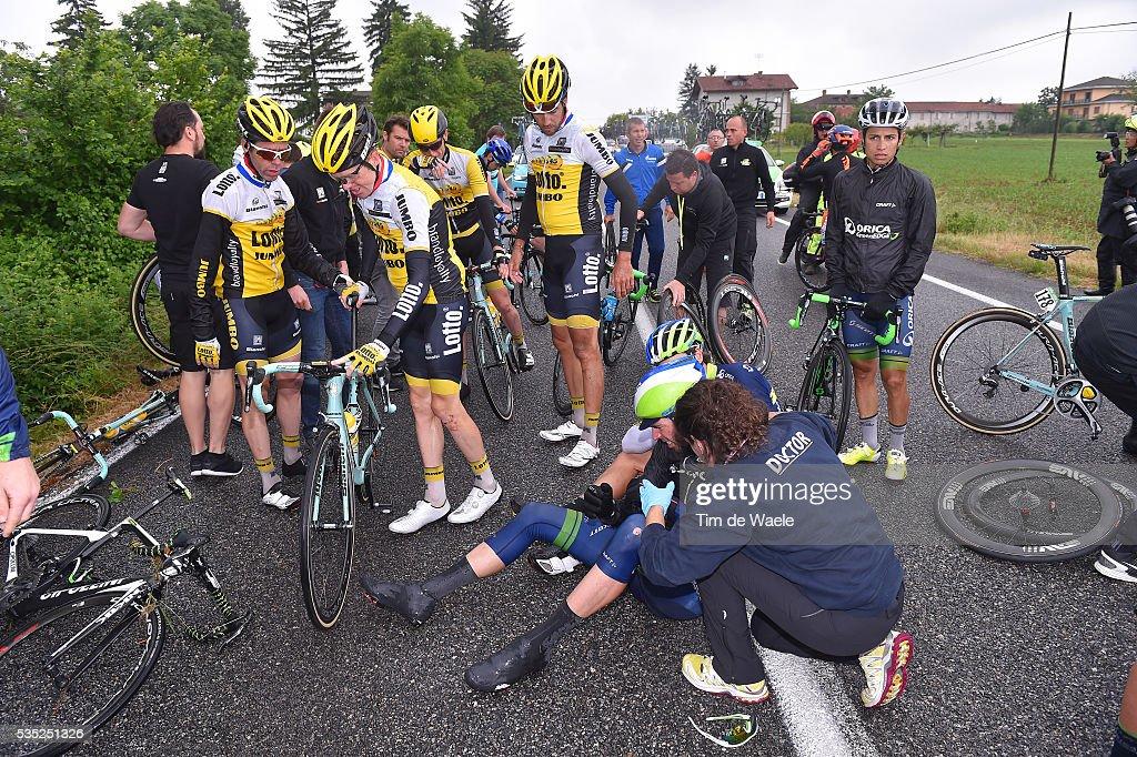 99th Tour of Italy 2016 / Stage 21 Steven KRUIJSWIJK (NED)/ Crash / Team LOTTO NL - JUMBO (NED)/ Johan Esteban CHAVES (COL)/ Cuneo - Torino (163km)/ Giro /