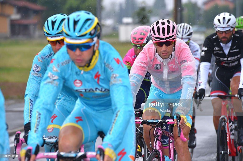 99th Tour of Italy 2016 / Stage 21 Vincenzo NIBALI (ITA) Pink Leader Jersey / Team ASTANA PRO TEAM (KAZ)/ Rain / Cuneo - Torino (163km)/ Giro /