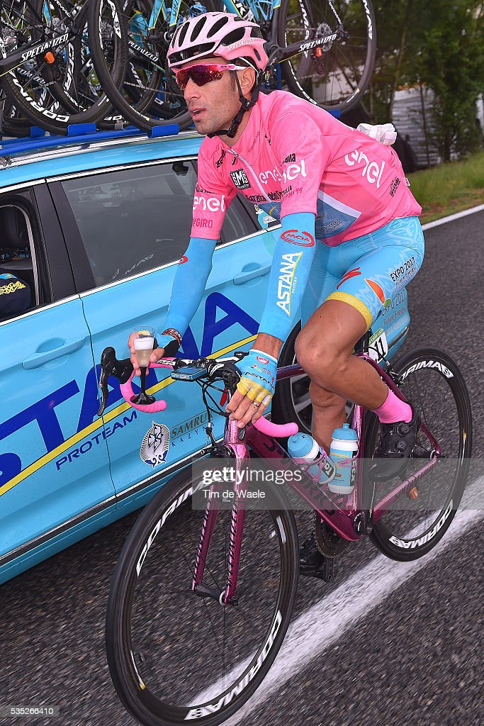 99th Tour of Italy 2016 / Stage 21 Vincenzo NIBALI (ITA) Pink Leader Jersey / Team ASTANA PRO TEAM (KAZ) / Car / Cuneo - Torino (163km)/ Giro /