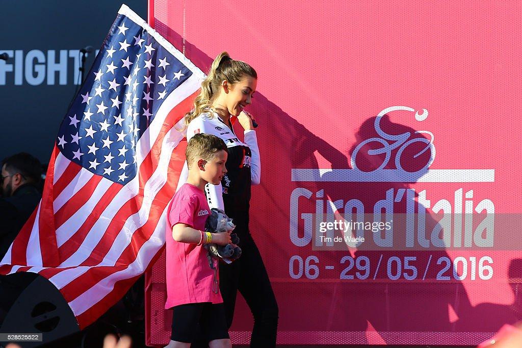 99th Tour of Italy 2016 / Team Presentation Illustration USA Flag Fans / Giro /