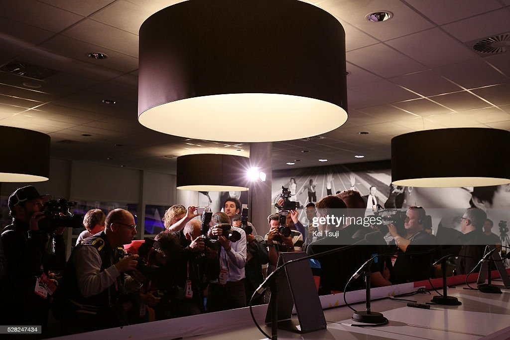 99th Tour of Italy 2016 / Team Sky Mikel LANDA (Esp)/ Press Media Journalists / Press Conference Team SKY (GBR)/ Giro /