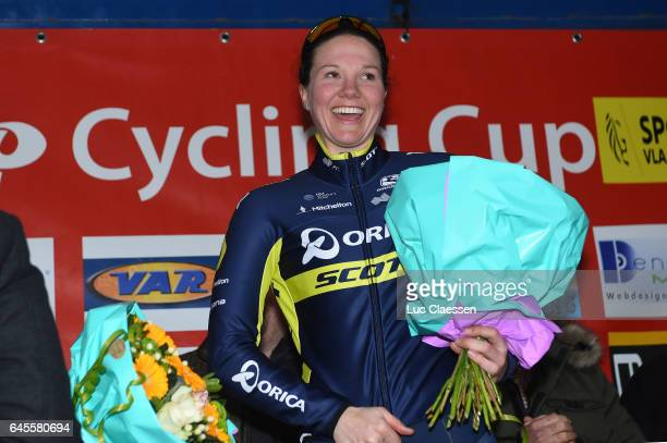 9th Spar Omloop Van Het Hageland / Women Podium / Sarah ROY / Celebration / Tielt Tielt / Women / Tielt Trophy /