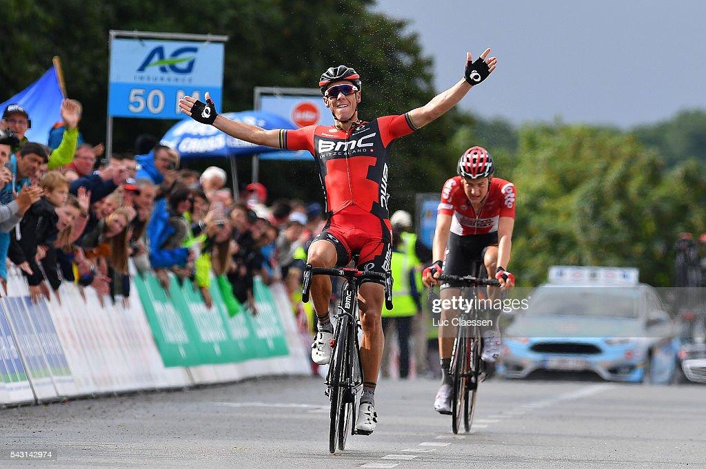 Belgian Road Championship 2016 / Elite Men Arrival / Philippe GILBERT (BEL) Celebration / Tim WELLENS (BEL)/ Lacs de l'Eau d'Heure Lire - Lacs de l'Eau d'Heure Lire (231km) /