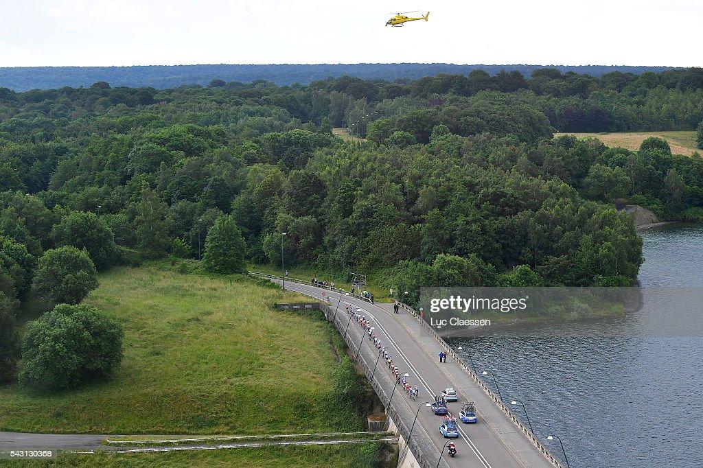Belgian Road Championship 2016 / Elite Men Illustration / Landscape / Peloton / Lake / Bridge / helicopter / Lacs de l'Eau d'Heure Lire - Lacs de l'Eau d'Heure Lire (231km) /