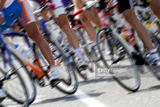 Cyclisme la concurrence. Image en couleur