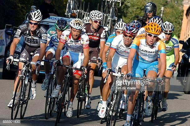 Giro Dell'Emilia 2010 Michele Scarponi / Daniel Martin / Alexandr Kolobnev / Xavier Tondo Volpini / Bologna San Luca / / Tim De Waele