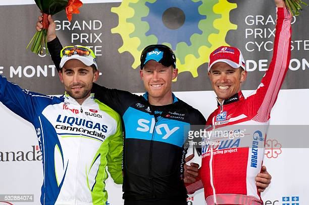 Grand Prix Cycliste de Montreal 2012 Podium/ Moreno MOSER / Lars Petter NORDHAUG / Alexandr KOLOBNEV / Celebration Joie Vreugde Avenue du Parc Ronde...