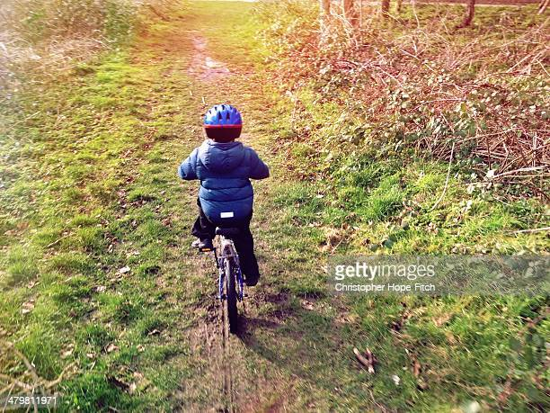 Cycling home from school