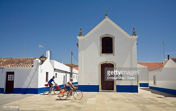 Cycling in Portuguese village