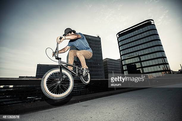 BMX cycling in the city