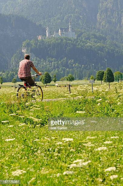 Biking by Neuschwanstein