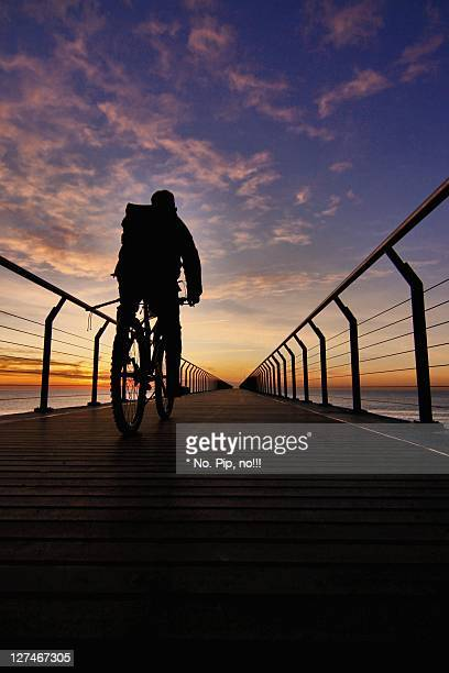 Cycling on bridge