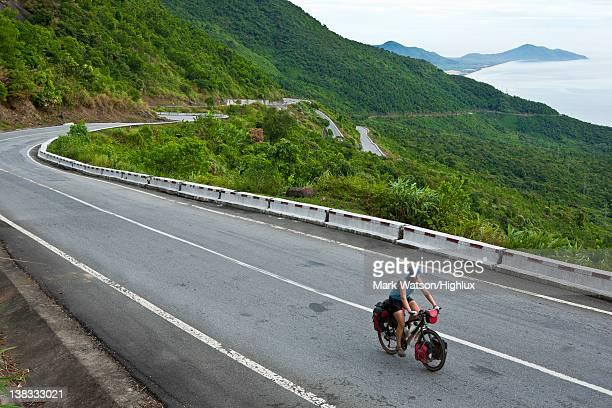 Cycling over Hai Van Pass, Vietnam