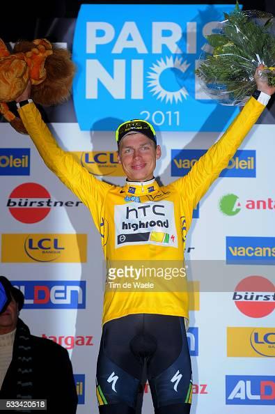 Paris Nice 2011 / Stage 7 Podium / Tony MARTIN Yellow Jersey / Celebration Joie Vreugde / Brignoles BiotSophia Antipolis / Etape Rit / Tim De Waele |...