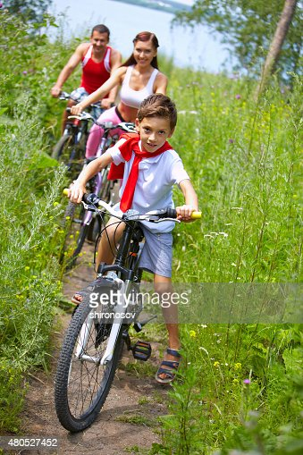 Cycling son : Stock Photo