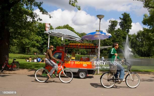 Cycling through Vondelpark.