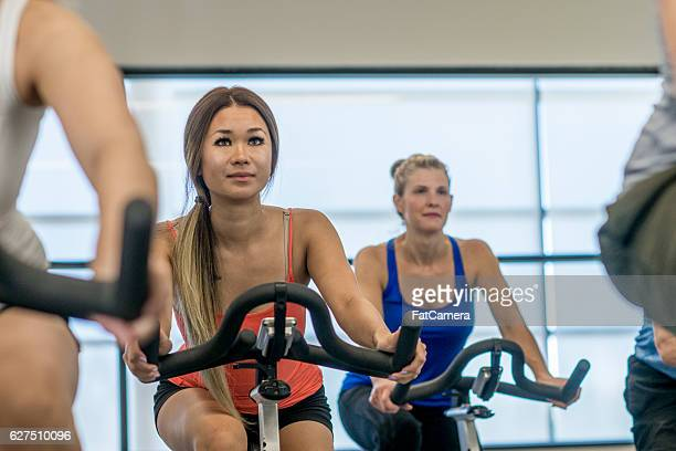 Cycling Together at the Gym
