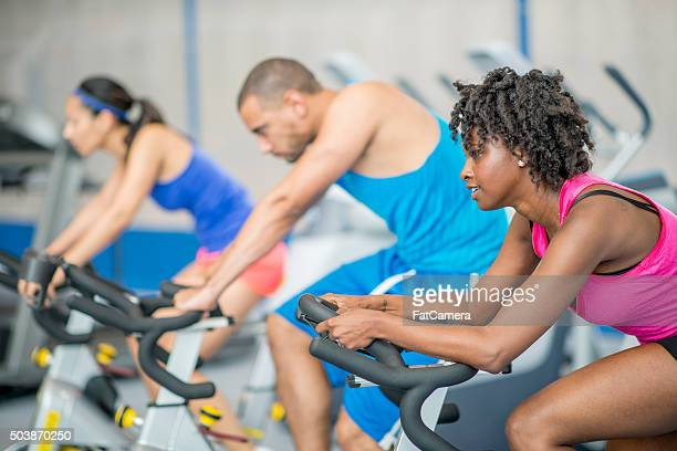Cycling Together in Spin Class