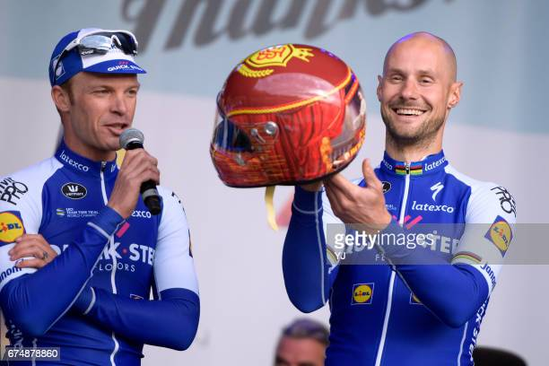 Tom Says Thanks / Farewell Race Tom BOONEN / Helmet/ Iljo KEISSE / Zivermeer / Team QuickStep Floors /