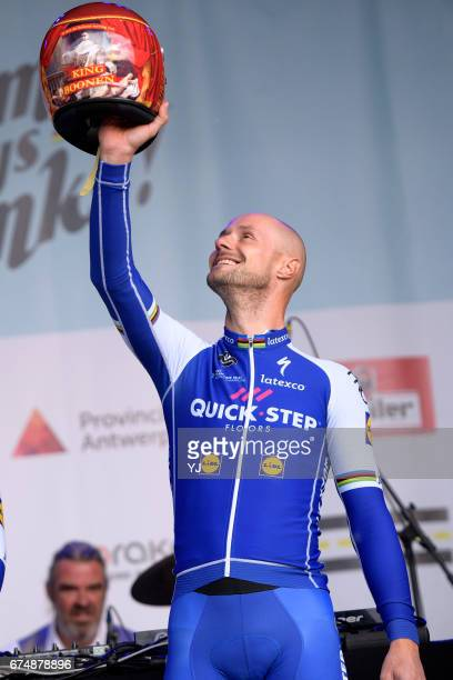 Tom Says Thanks / Farewell Race Tom BOONEN / Helmet/ Zivermeer / Team QuickStep Floors /