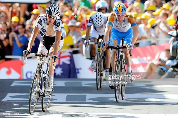 'Cycling Tour de France 2009 / Stage 15 Arrival / SCHLECK Frank / WIGGINS Bradley / Carlos SASTRE / Arrivee Aankomst / Pontarlier Verbier Rit Etape /...