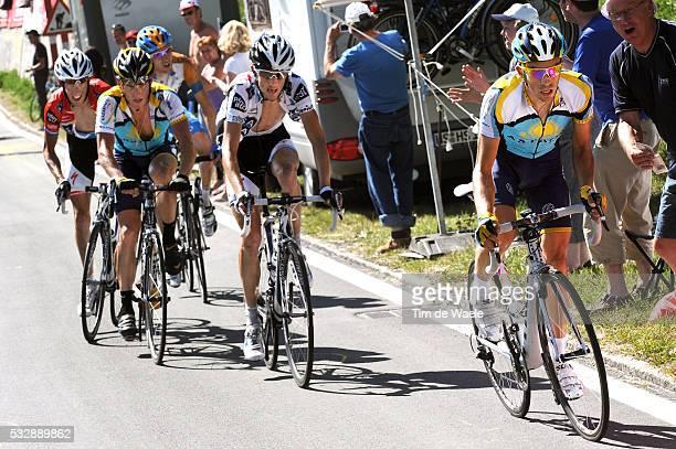 'Cycling Tour de France 2009 / Stage 15 CONTADOR Alberto / SCHLECK Frank / ARMSTRONG Lance / SCHLECK Andy / Bradley WIGGINS / Pontarlier Verbier Rit...