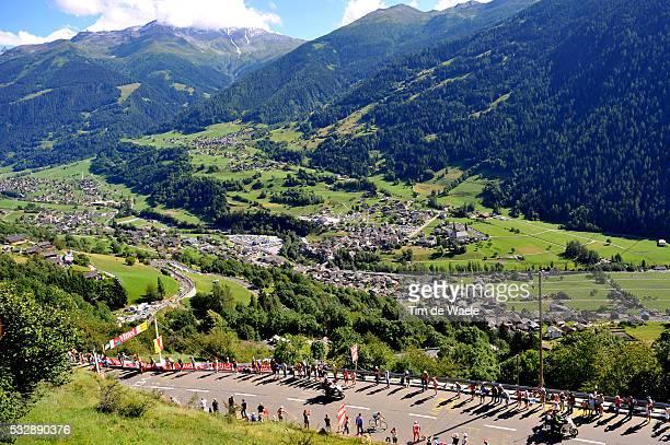 'Cycling Tour de France 2009 / Stage 15 Illustration Illustratie /Alberto CONTADOR / Verbier / Mountains Montagnes Bergen / Pontarlier Verbier / Rit...